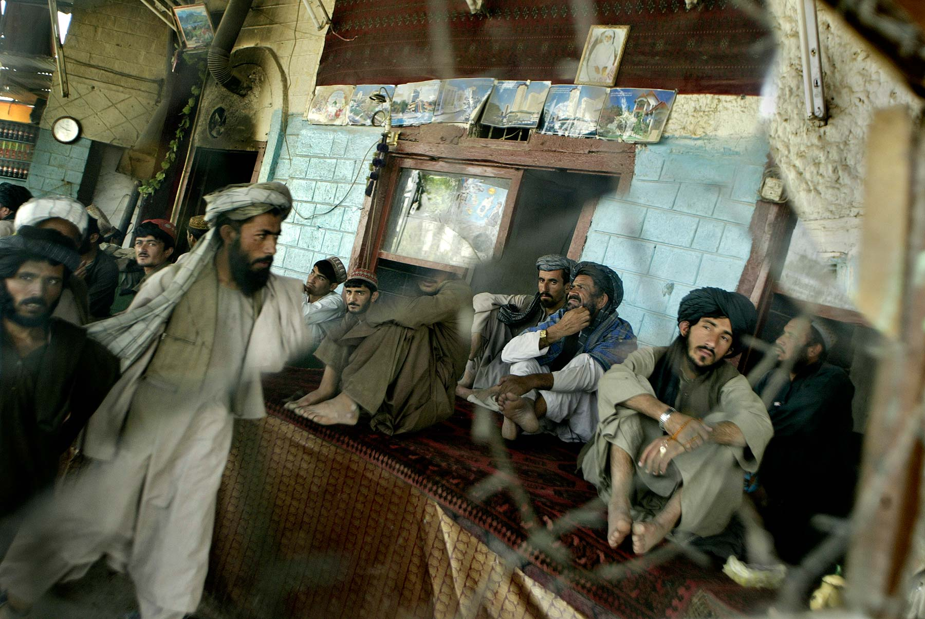 Afghan Men Teashop Kandahar